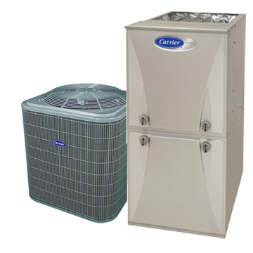 Image for Carrier 100,000 BTU Two-Stage Variable (DC Motor) Hi-Eff Gas Furnace & 3 Ton 13 SEER Hi-Eff Central Air